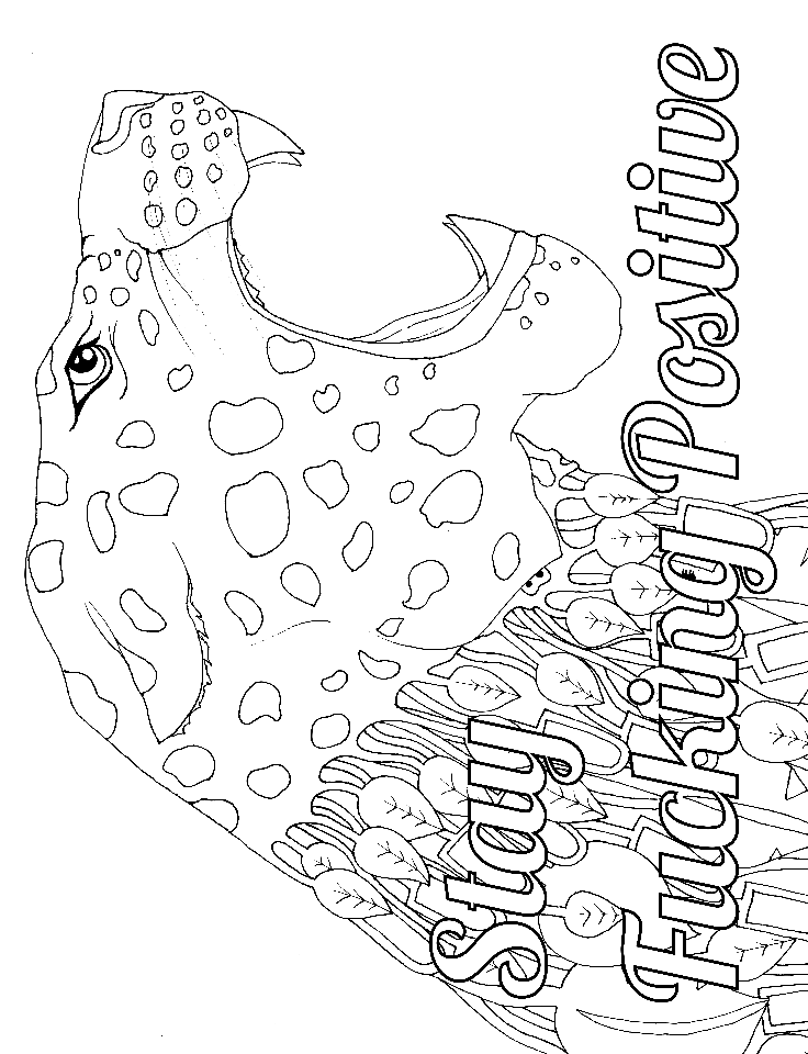 photo about Free Printable Swear Word Coloring Pages named 4 Absolutely free Printable Swear Term Coloring Webpages at