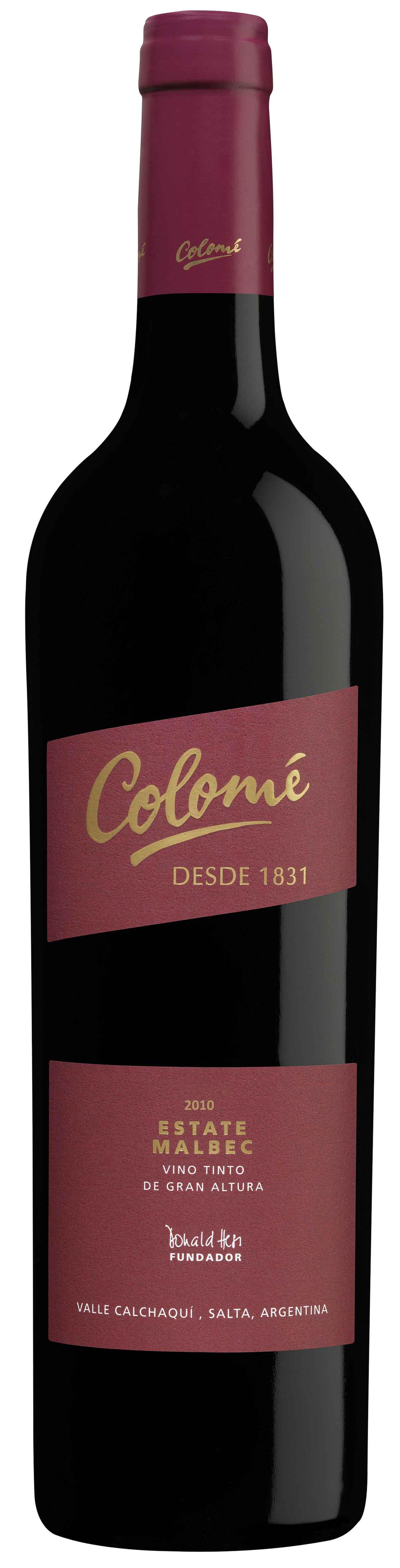 Colome Estate Malbec 2011 Bodega Colome Valle Calchaqui Provincia De Salta Argentina Altura S N M 2300 A 3100 Intenso Y Com Vinhos E Queijos Wine Frutas