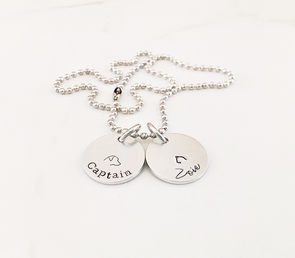 Personalized Pet Charm Necklace | Gifts for Pet Lovers