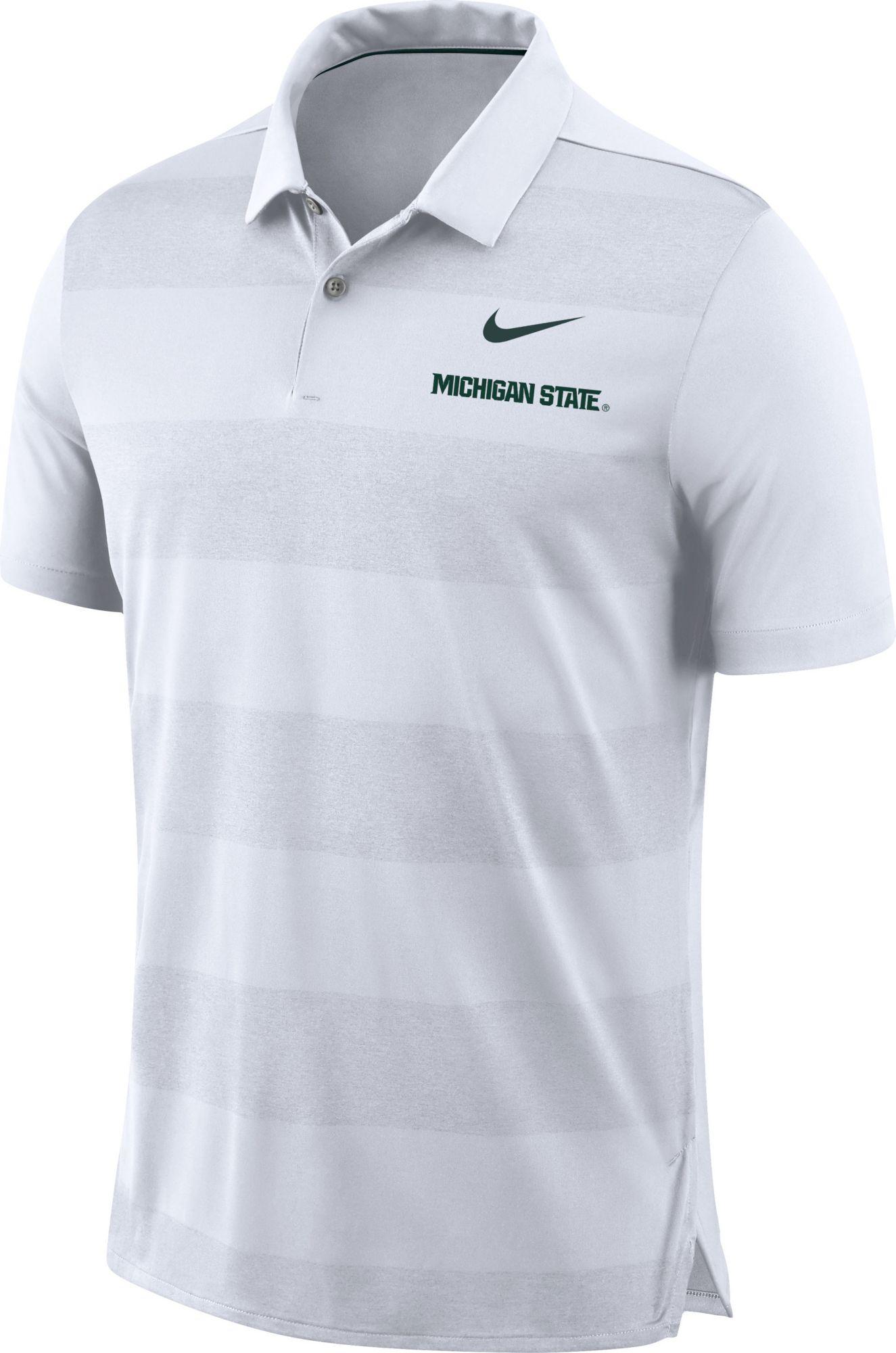 pretty nice fde69 8327e Nike Mens Michigan State Spartans Early Season Football White Polo