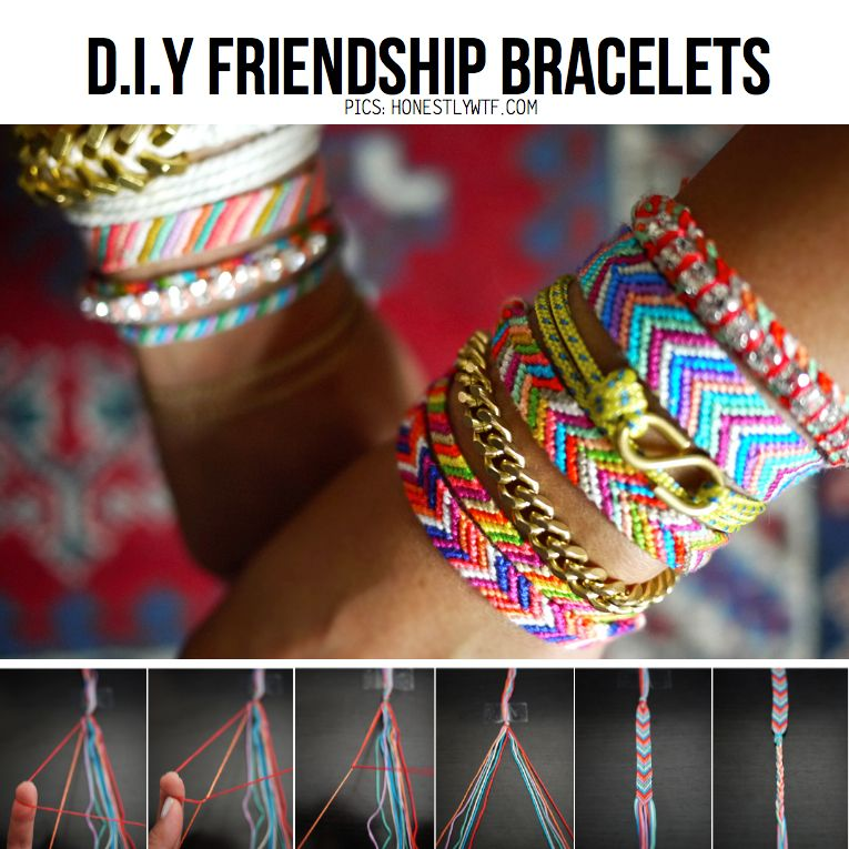 1e860c26e800 DIY Projects Pinterest   DIY Friendship Bracelets from HonestlyWTF ...