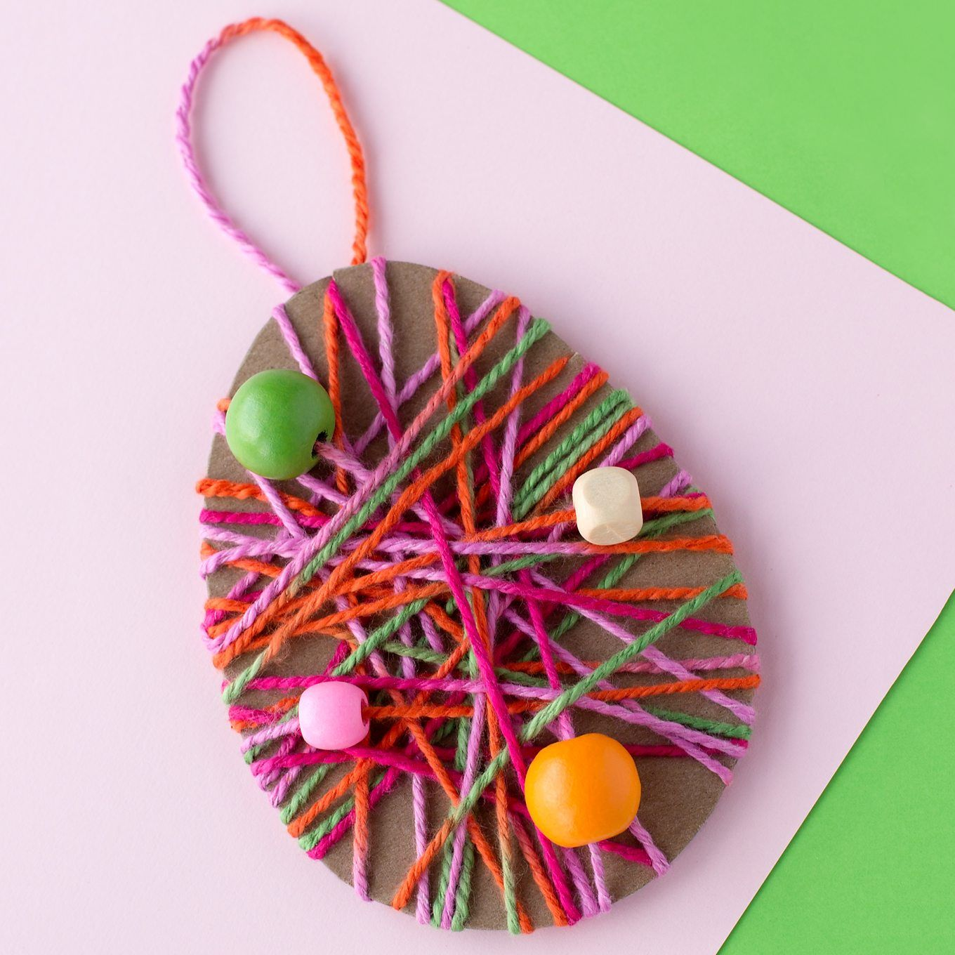 easy yarn wrapped easter egg craft for kids egg crafts easter and