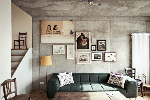 Betonnen muren hebben een bijzondere uitstraling met de for Interieur tijdschriften nederland