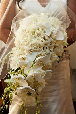 Intricate and elegant large bridal bouquet.
