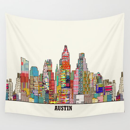 Austin Texas Wall Tapestry By Bri Buckley 39 00 Tapestry