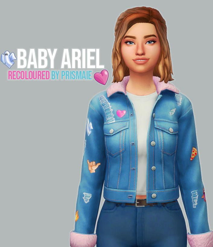 Prismaie Baby Ariel Recolored So I Know A Lot Of People Have Recolored This Jacket Already That Came With The Patch But I Ne Sims Four Sims 4 Play Sims 4