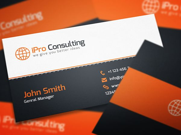 Free Psd Ipro Consulting Business Cards Business Card Mock Up High Quality Business Cards Personal Business Cards