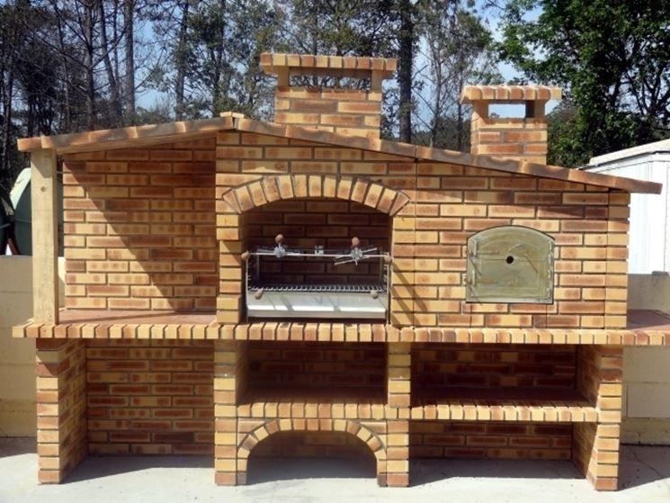 Barbecue in muratura area pranzo lato portico nel 2019 for Stili di case esterni