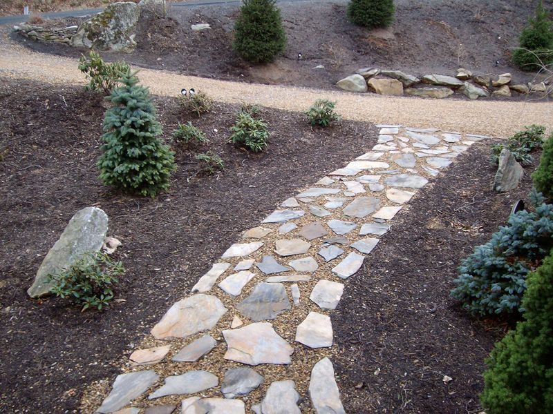rock sidewalk landscaping ideas pinterest sidewalk