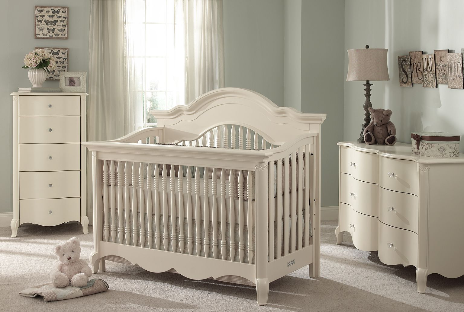 Julia Collection In White Linen Nursery Furniture Sets Baby