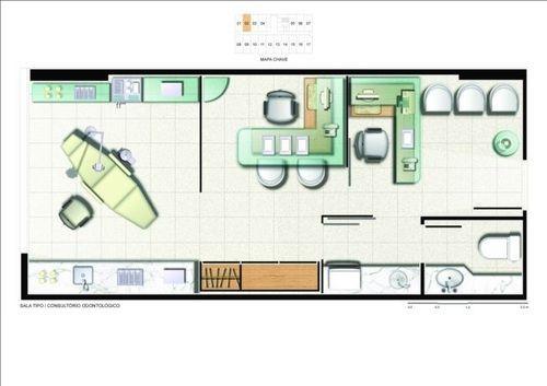 Salas comerciais planta sala 31m2 opcao clinic ideas - Planos de clinicas dentales ...