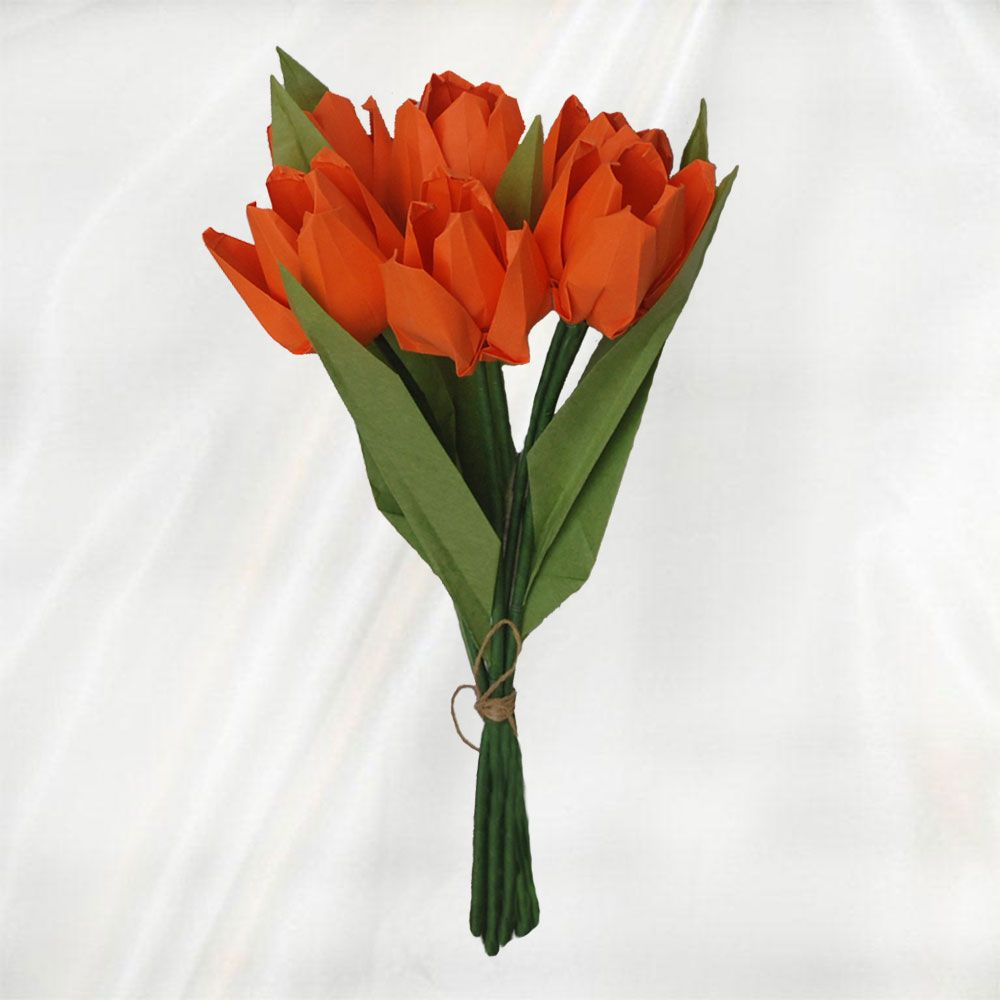 Buy 6 origami tulips bouquet origami flower bouquet buy 6 origami tulips bouquet origami flower bouquet jeuxipadfo Image collections