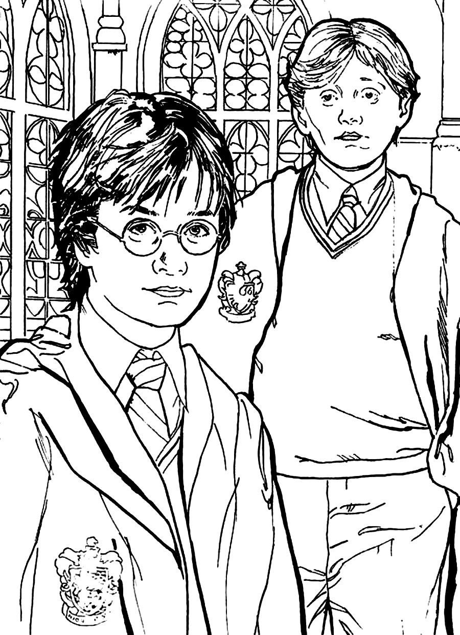 harry-ron-and-hermione-Colouring-Pages-page-3.jpg (900×1242 ...