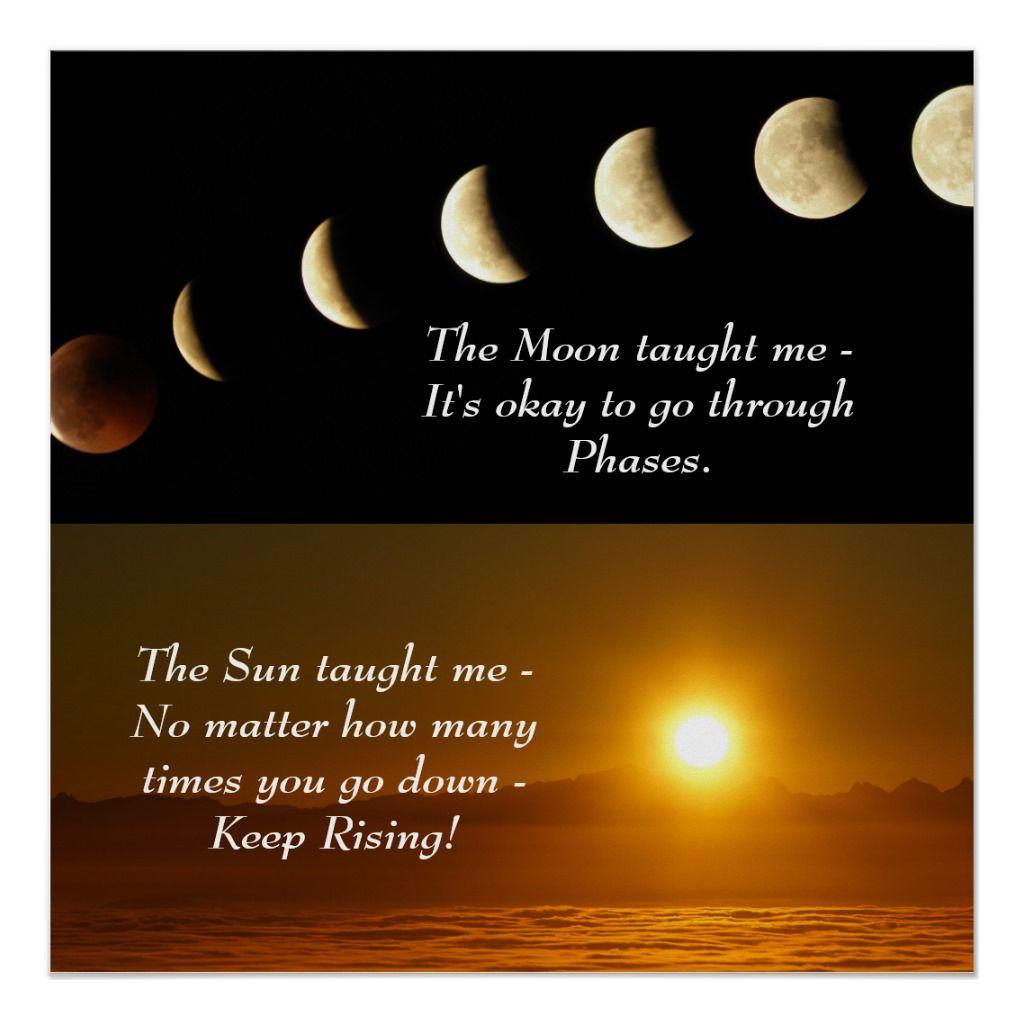 Sun Moon Spiritual Inspirational Quote Poster Zazzle Com Inspirational Quotes Posters Spiritual Inspiration Quotes Free Spirit Quotes