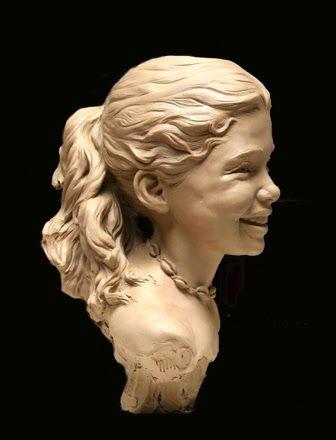 """Remembering the Seashore"" (clay) - sculpture by Angela Mia De La Vega"