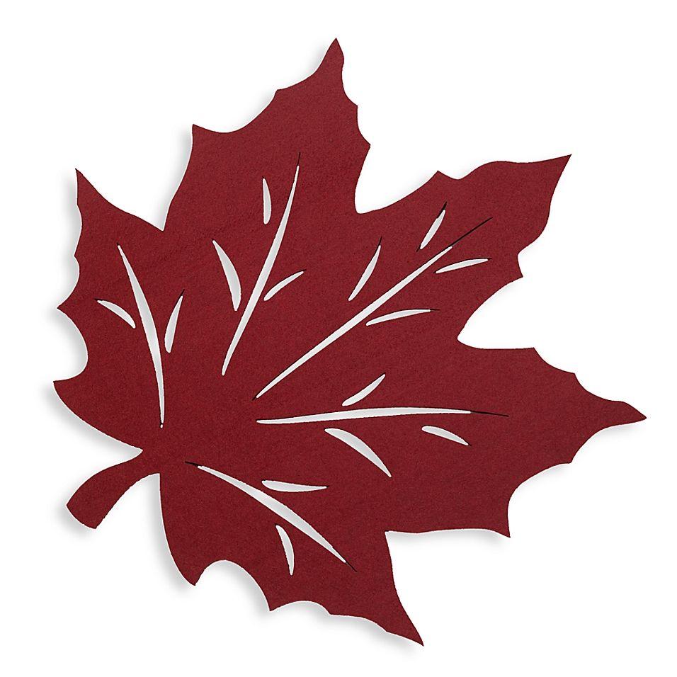Felt Leaf Placemat In Wine Felt Leaves Felt Crafts Diy Leaf Crafts