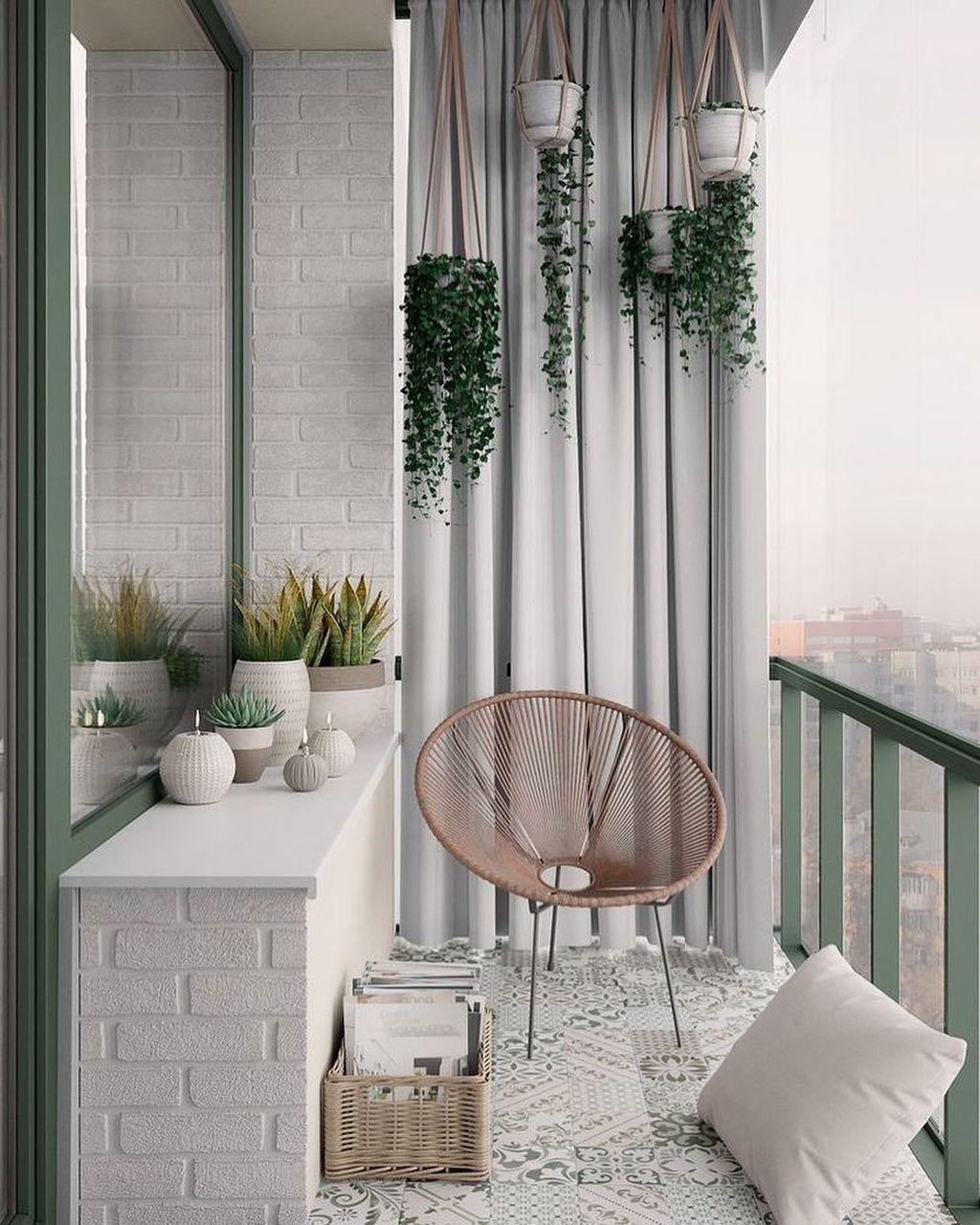 17 Elegant And Cozy Balcony Ideas in 17  Small balcony decor