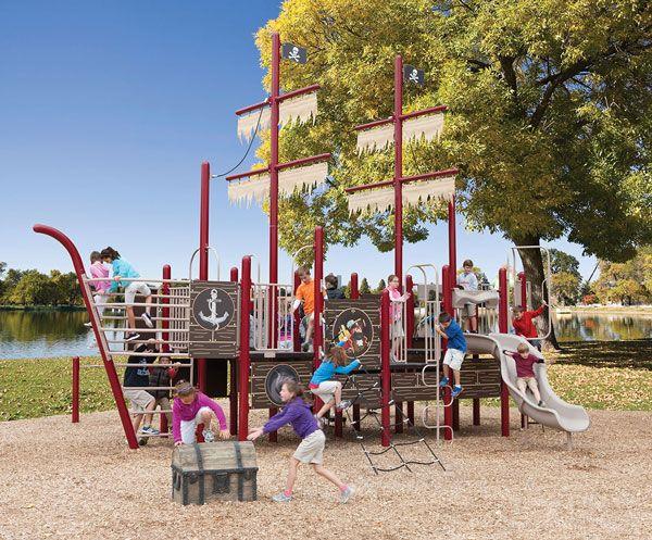 Pirate Ship Theme Playground Commercial Playground Equipment