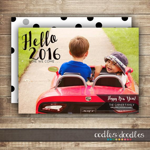 New Year's Photo Card 2016 Photo Card Printable Christmas by OandD