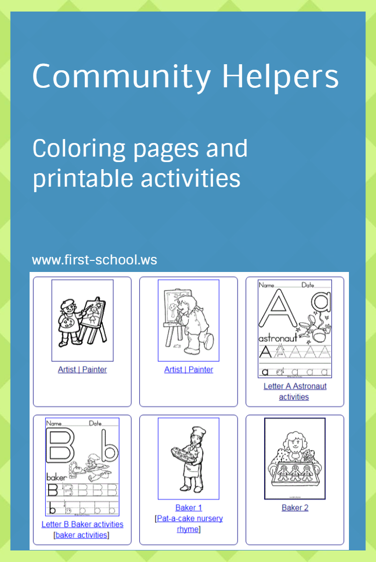 community helpers coloring pages and printable activities for