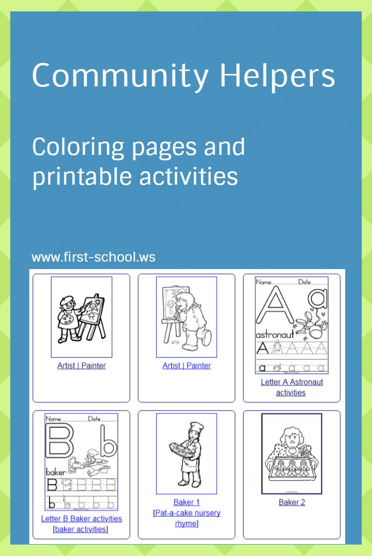 First-School.ws Preschool Activities (learnland) on Pinterest
