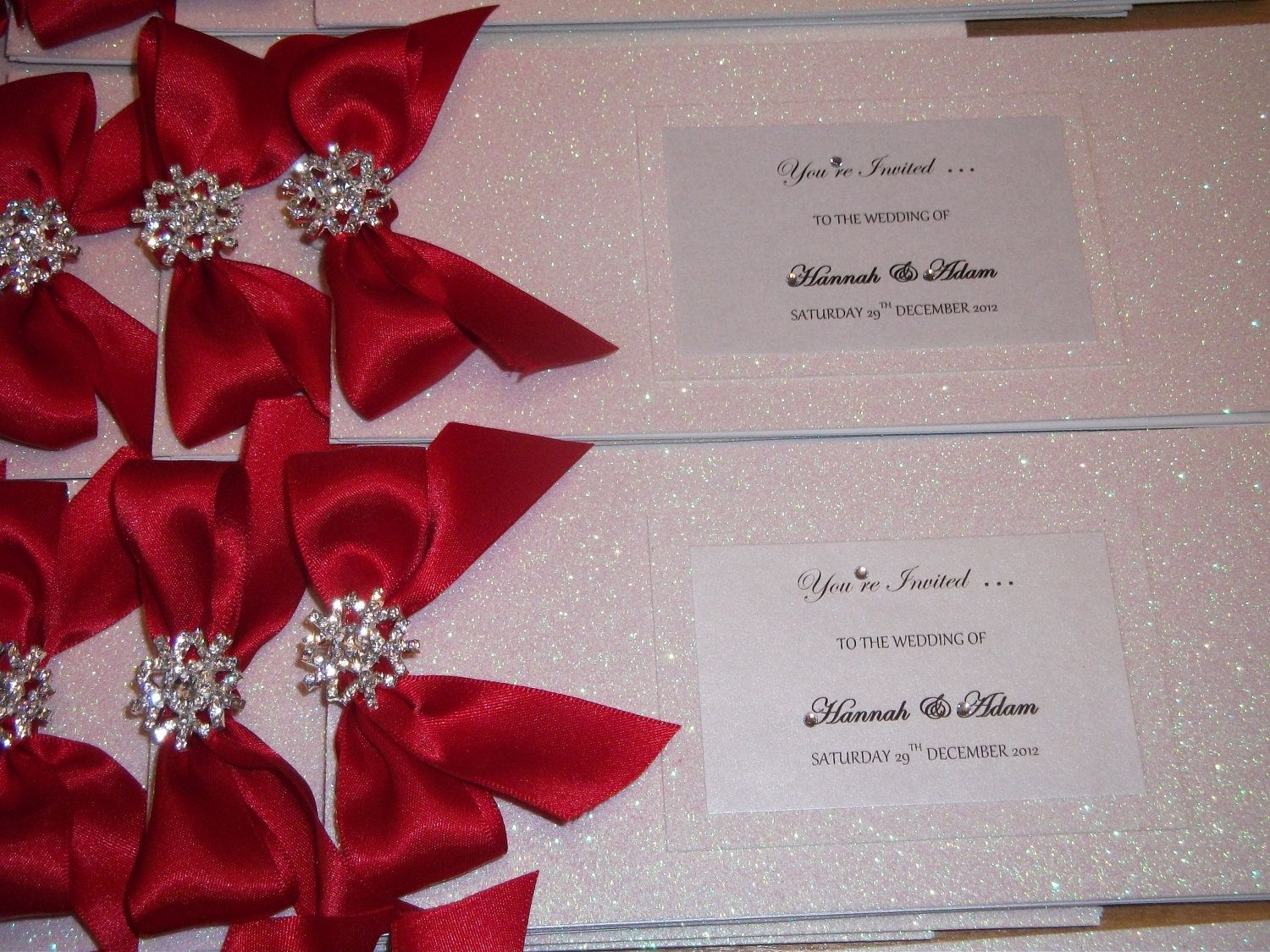 Handmade Couture The Winter Crystal cheque book wedding invitation ...