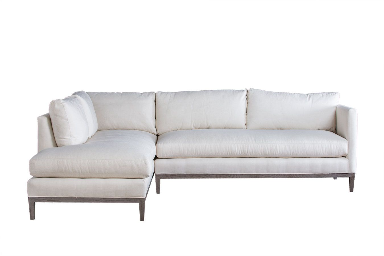 Holloway Sectional Sofa In Crypton Hopsack Oyster Fabric Mecox