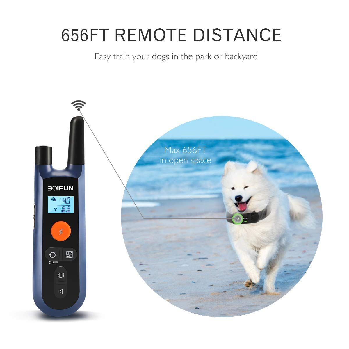 Boifun Dog Training Collar Waterproof And Rechargeable Dog Shock