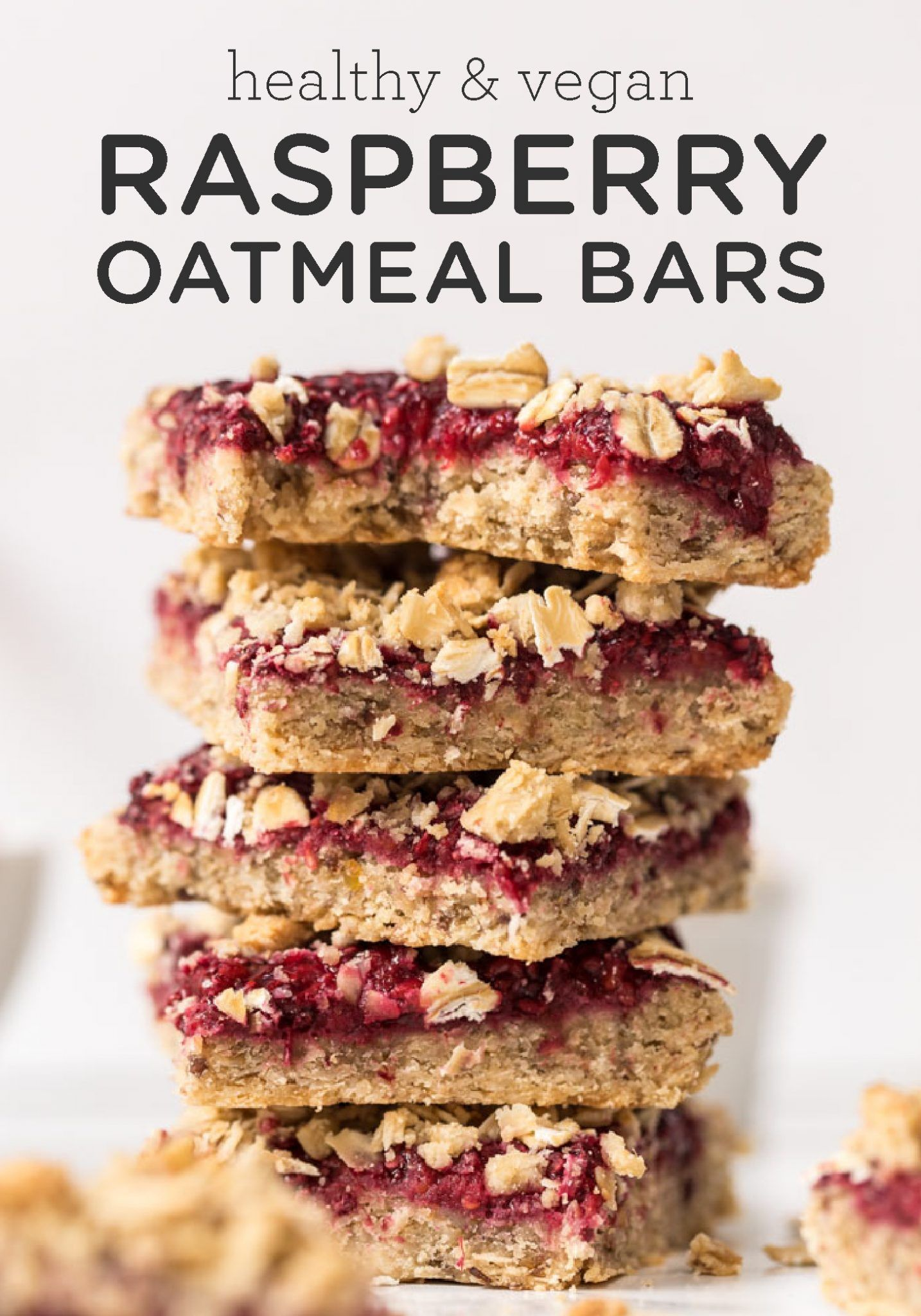 Healthy Vegan Raspberry Oatmeal Bars Simply Quinoa Recipe Oatmeal Bars Recipes Raspberry Oatmeal Bars Recipes