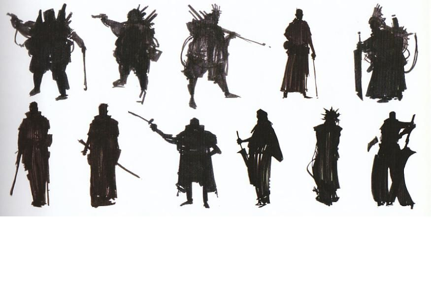 Character Design Silhouette : Silhouette thumbnailing ★ character design references