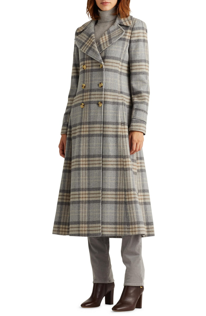 Lauren Ralph Lauren Plaid Wool Blend Coat Nordstrom Wool Blend Coat Wool Plaid Women S Coats Jackets [ 1196 x 780 Pixel ]