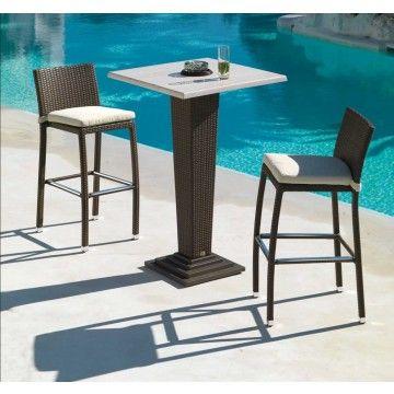 Mesa bar alta java ambar muebles deco interiorismo for Conjuntos de jardin con mesa alta