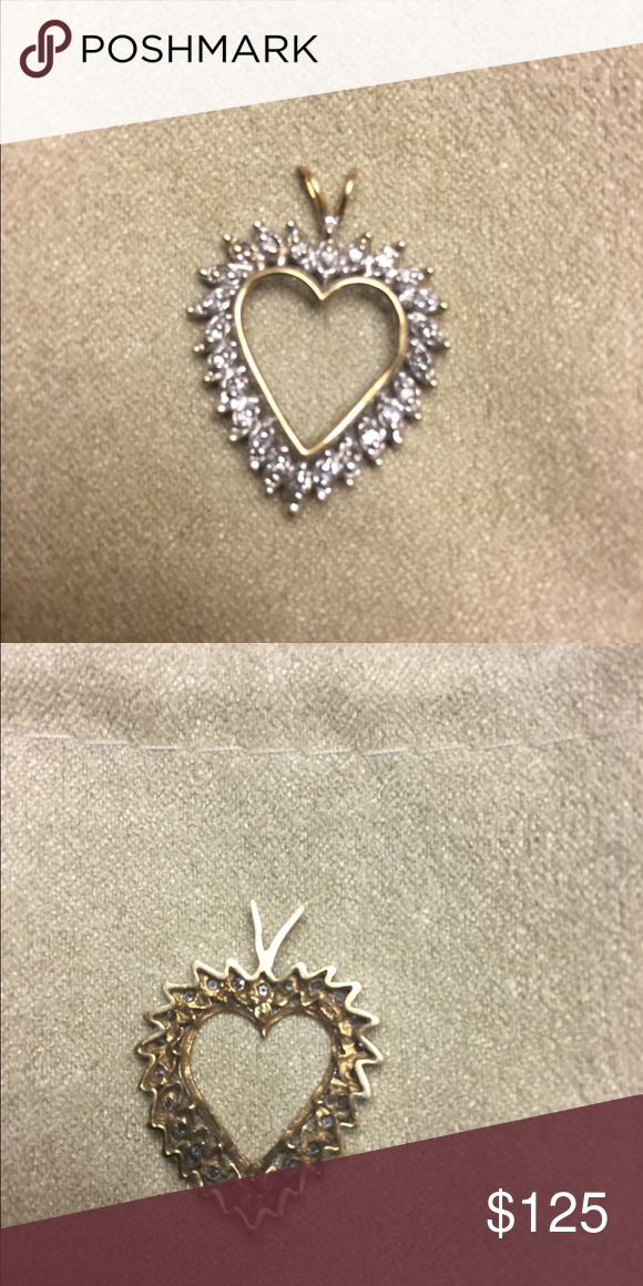 1 carat diamond heart pendant gorgeous 10k yellow gold 1 1 carat diamond heart pendant gorgeous 10k yellow gold 1 carat diamond heart pendant mozeypictures Choice Image