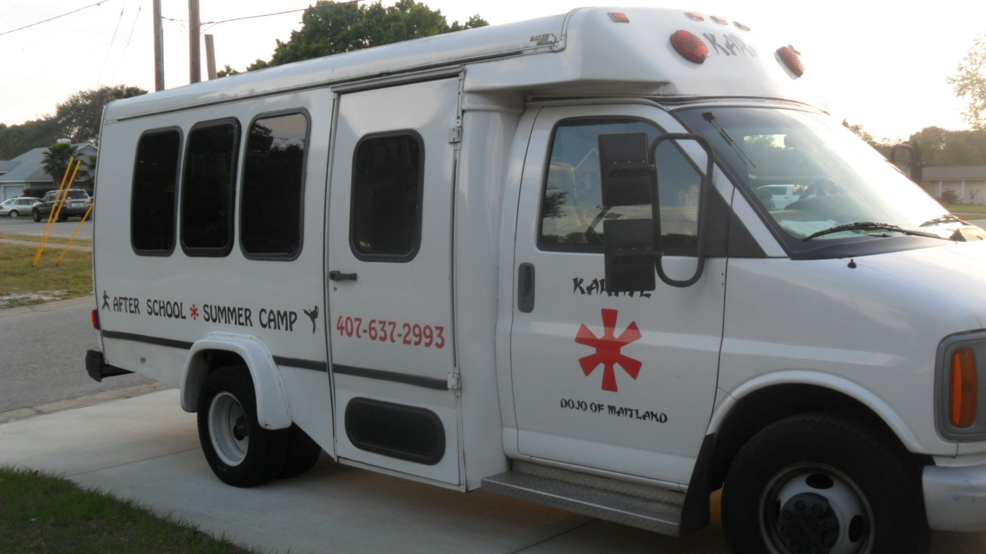 Shuttle buses for afterschool karate and summer camp field trips