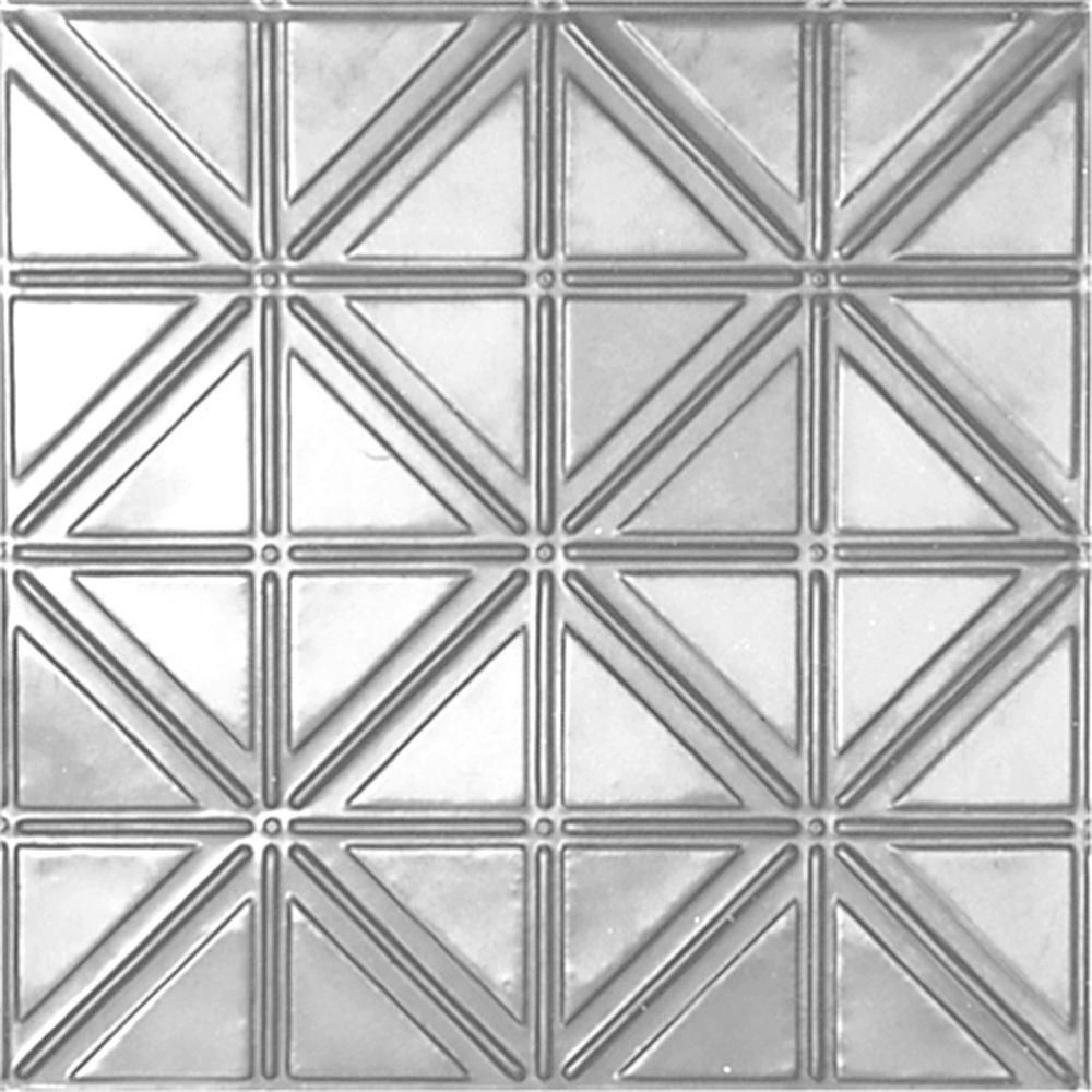 Shanko 2 Ft X 4 Ft Nail Up Tin Ceiling Tile In Clear Lacquer 24 Sq Ft Case Tin Ceiling Tiles Ceiling Tiles Drop Ceiling Tiles