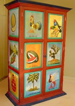 Amazing Image Detail For  Storage Furniture: Hand Painted Cabinets, Mexican Armoires