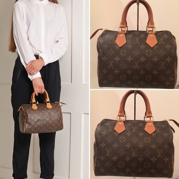5bf29ccd7082 ... Louis Vuitton Speedy 25 Beautiful condition Authentic Louis Vuitton  Speedy 25. This LV speedy comes with Pad Lock and Key valued at  50 with BASE  shaper ...