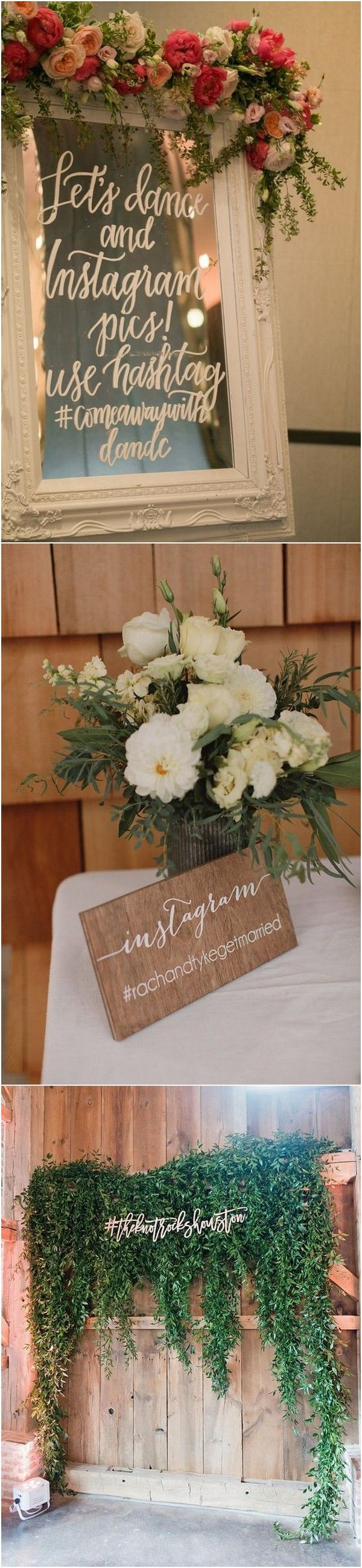 Wedding reception wedding decorations 2018   Trending Wedding Hashtag Sign Ideas for Your Big Day  Page  of