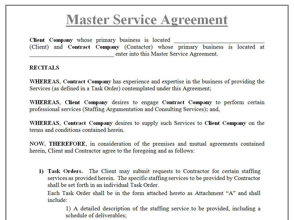 Master Consulting Agreement New Zealand Subletting Agreement For