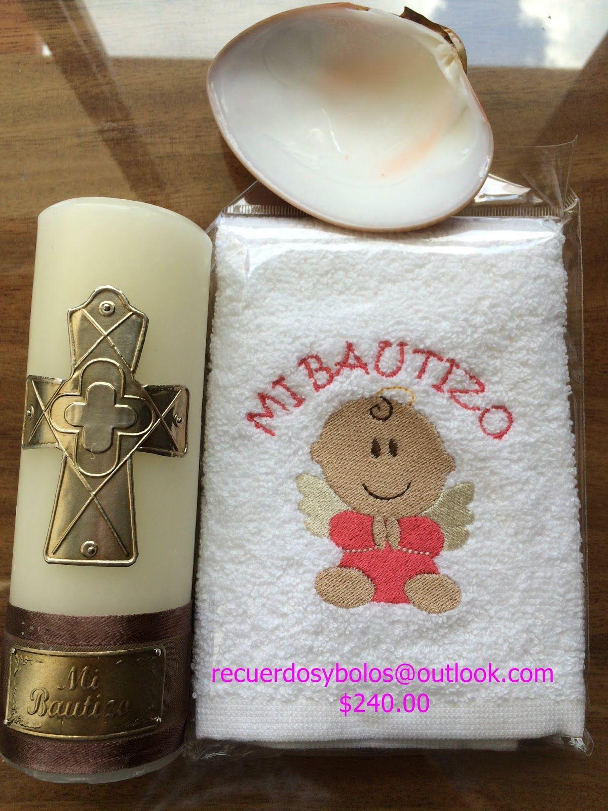 Bolos y recuerdos para Bautizo y Primera union set de Biblia con vela y rosario