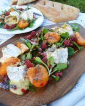 Today I have a delicious colorful greeting from France for you Snack time   Salat