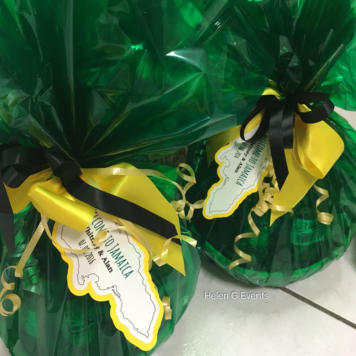 Love these. Jamaican Welcome Baskets. Any wedding guest would be ...