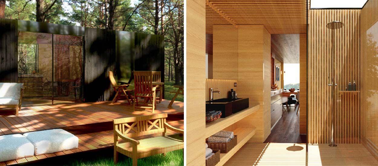7 Jolies Maisons En Kit Pour Construire Moins Cher Que Le Prix Du Marche Maison En Kit Jolie Maison Maison Bois