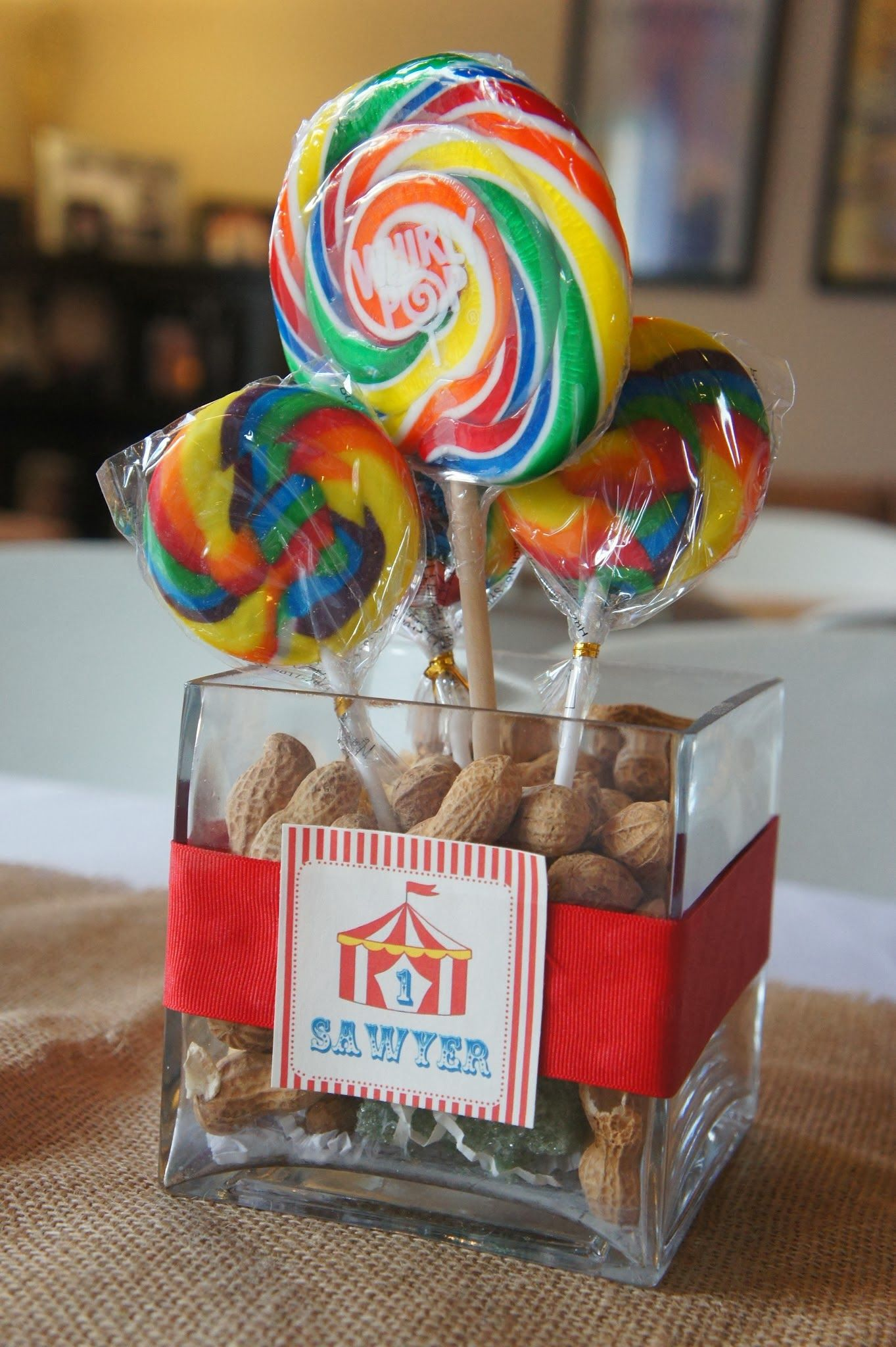Circus party centerpiece | Sawyers 1st Birthday ...