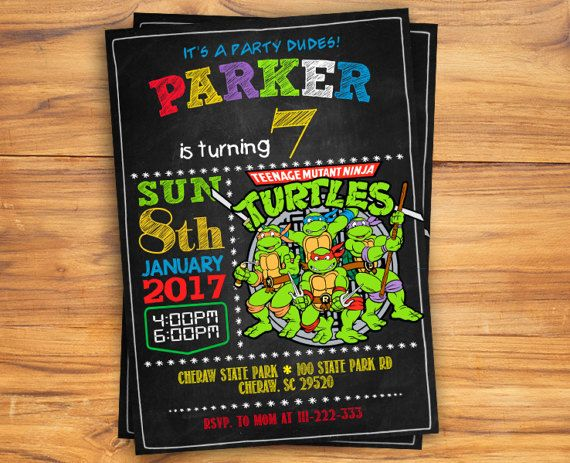 Ninja Turtle Invitation Tmnt Invitation Teenage By Kidzparty