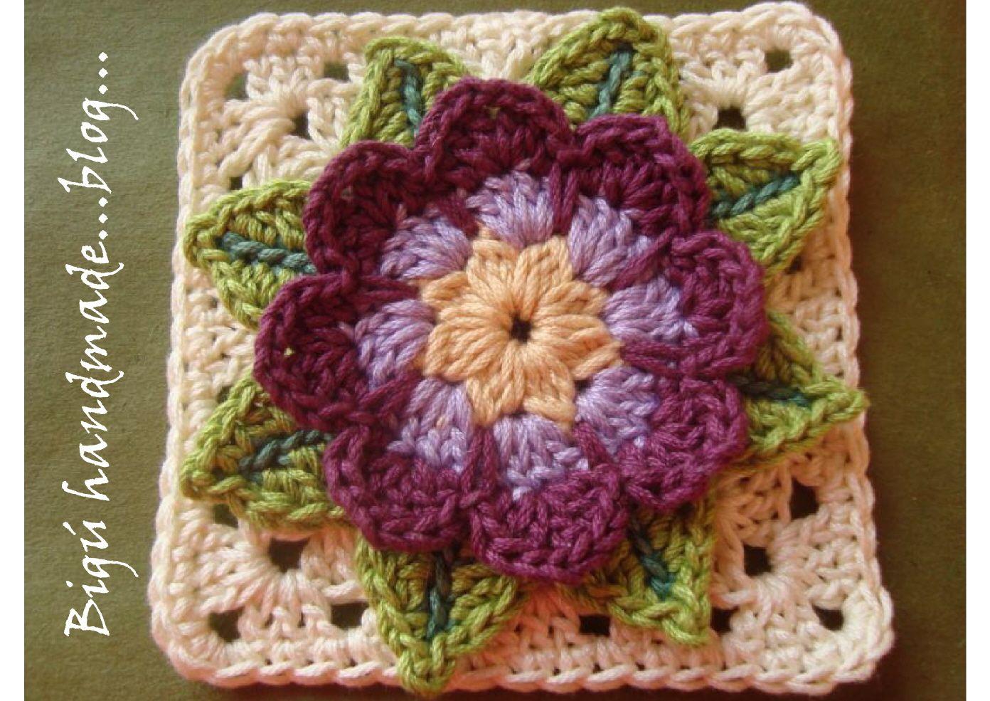 Waterflower Granny Square: free pattern | Crochet-Flowers ...