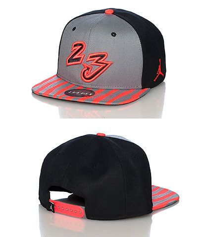 JORDAN Jordan X sneaker snapback cap Adjustable strap on back for comfort  Striped brim design Embroidered 23 on front 21cad62c20c