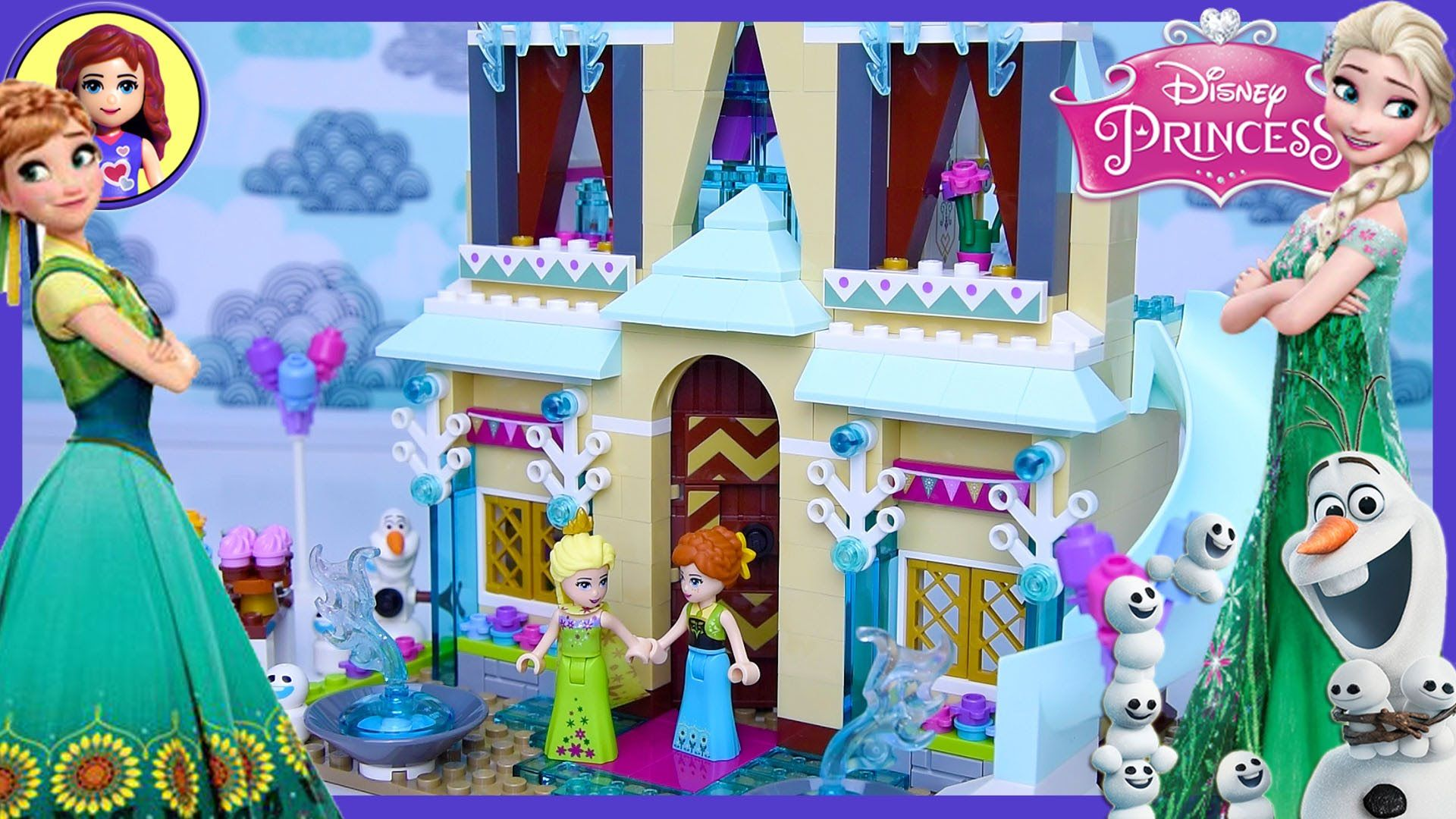 Lego Frozen Fever Arendelle Celebration Castle Disney Princess Build Review Play Kids Toys Frozen Legos Lego Disney Princess Lego Girls