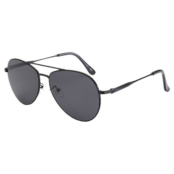 Crossbar Anti UV Metal Pilot Sunglasses (€5,85) ❤ liked on Polyvore featuring accessories, eyewear, sunglasses, metal sunglasses and metal glasses