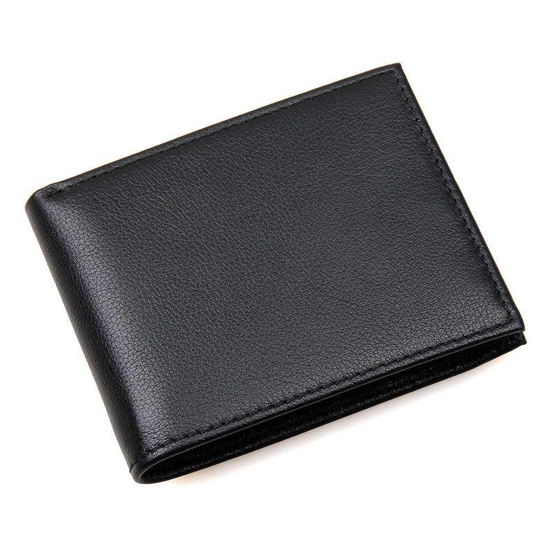 Genuine Leather Men/'s Credit Card ID Change Coin Holder Bifold Black Wallet NEW